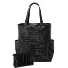 40 Love Courture Black Croc Emma Tote - 40 Love Courture