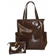 40 Love Courture Espresso Patent Emma Tote - Tennis Bag Brands