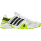 Adidas Men's Barricade 8 Tennis Shoes (White/ Black/ Lime) - Adidas Tennis Shoes