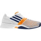 Adidas Men's CC adiZero Feather III Tennis Shoes (Night Blue/ White/ Orange) - Lightweight Tennis Shoes