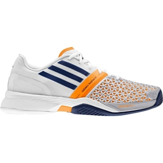 Adidas Men's CC adiZero Feather III Tennis Shoes (Night Blue/ White/ Orange)