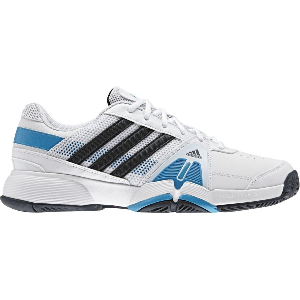 Adidas Barricade Team 3 Mens Tennis Shoes (White/ Silver/ Blue)