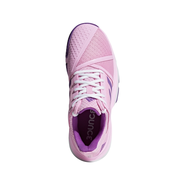 Adidas Women's CourtJam Bounce Tennis Shoes (True Pink/Active Purple/White)
