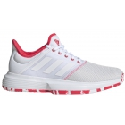 Adidas Women's GameCourt Tennis Shoes (White/Shock Red) - Adidas GameCourt Tennis Shoes