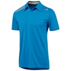 Adidas Men's ClimaChill Polo (Solar Blue) - Men's Tops Polo Shirts Tennis Apparel