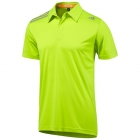 Adidas Men's ClimaChill Polo (Solar Slime) - Men's Tops Polo Shirts Tennis Apparel