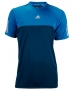 Adidas Men's Response Tee (Tribe Blue/ Solar Blue) - Adidas Men's Apparel Tennis Apparel
