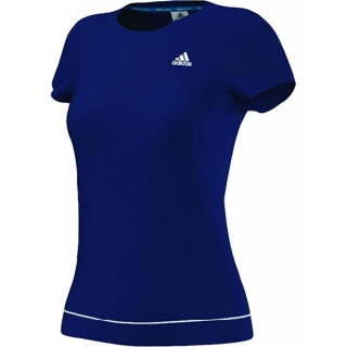 Adidas Women's Galaxy Tee (Night Blue/ White)