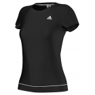 Adidas Women's Galaxy Tee (Black/ White) - Women's Tops Tennis Apparel