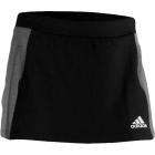 Adidas Sequentials Core Skirt (Black/ Grey) - Adidas Women's Apparel Tennis Apparel