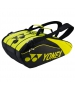 Yonex Pro Series 9-Pack Racquet Bag (Black/Lime) - 9 and 12+ Racquet Tennis Bags