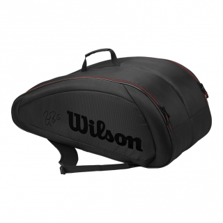 Wilson Federer Team 12 Pack Tennis Bag (Black w/ Red)