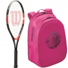 Wilson Roger Federer Junior Racquet, Pink Junior Backpack - Wilson Junior Tennis Racquets, Bags, Shoes and More