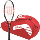 Wilson Roger Federer Junior Racquet, Red Match 3-Pack - Wilson Junior Tennis Racquets, Bags, Shoes and More