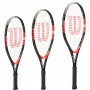 Wilson Roger Federer Junior Tennis Racquet, bundled with a Grey Junior Tennis Backpack and a 3-Pack