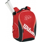 Wilson Federer Team Collection Premium Back Pack Tennis Bag (Red/ Black) - Wilson Tennis Bags