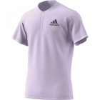 Adidas Men's Freelift HEAT.RDY Tennis Polo (Purple Tint/Legend Earth) - Adidas Tennis Apparel