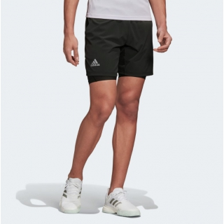 Adidas Men's HEAT.RDY 2in1 7 Inch Tennis Shorts (Legend Earth/Grey)