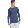 Adidas Men's HEAT.RDY Longsleeve Tennis Tee (Tech Indigo/Night Metallic)