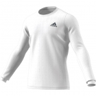Adidas Men's HEAT.RDY Longsleeve Tennis Tee (White/Night Metallic) - Specials & Deals on Premium Tennis Gear