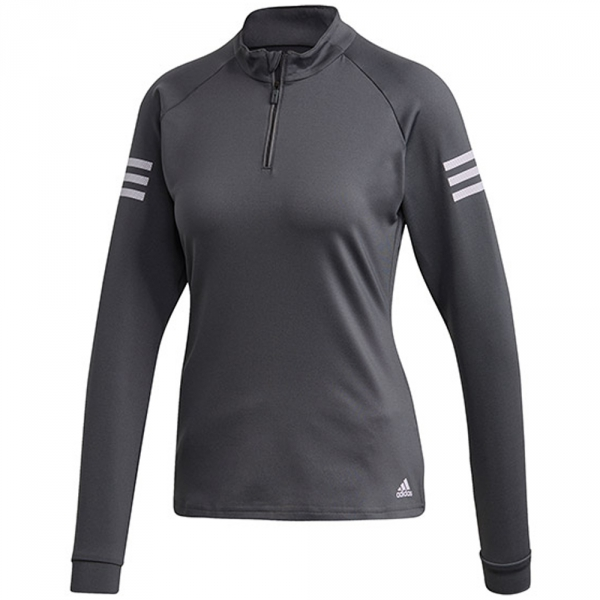 Adidas Women's Club Tennis Midlayer (Grey Six/Purple Tint)