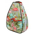 40 Love Courture Flamingo Sophi Backpack - Designer Tennis Bags - Luxury Fabrics and Ultimate Functionality
