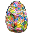 Jet Flower Power White Knock Off Backpack - Jet Bags