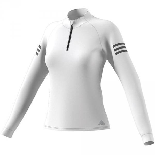 Adidas Women's Club Tennis Midlayer (White/Matte Silver/Black)