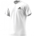 Adidas Men's Freelift HEAT.RDY Tennis Polo (White/Legend Earth) - Specials & Deals on Premium Tennis Gear