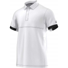 Adidas Men's T16 CC Team Tennis Polo (White/Black) - Men's Tennis Apparel