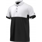 Adidas Men's T16 CC Team Tennis Polo (Black/White) - Men's Tennis Apparel