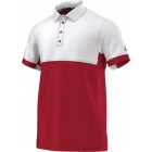 Adidas Men's T16 CC Team Tennis Polo (Red/White) - New Style Tennis Apparel