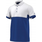 Adidas Men's T16 CC Team Tennis Polo (Blue/White) - Men's Tennis Apparel