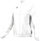 Adidas Women's T16 Team Jacket (White/ Black) - Women's Tennis Apparel