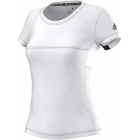 Adidas Women's T16 CC Team Tennis Tee (White/Black) - Adidas Apparel
