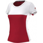 Adidas Women's T16 CC Team Tennis Tee (Red/White) - New Style Tennis Apparel