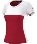 Adidas Women's T16 CC Team Tennis Tee (Red/White) - Adidas Women's Tennis Apparel