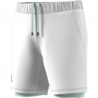 Adidas Men's HEAT.RDY 2in1 7 Inch Tennis Shorts (White/Dash Green) - Specials & Deals on Premium Tennis Gear