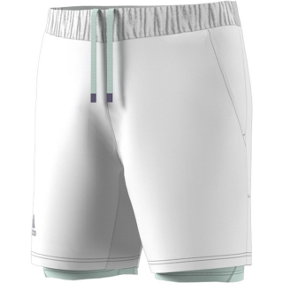 Adidas Men's HEAT.RDY 2in1 7 Inch Tennis Shorts (White/Dash Green)