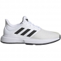 Adidas Men's GameCourt Tennis Shoes (White/Core Black/Gray One)
