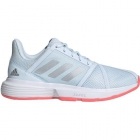 Adidas Women's CourtJam Bounce Tennis Shoes (SkyTint/Silver Metallic/Signal Pink) - Shop Your Favorite Tennis Brands