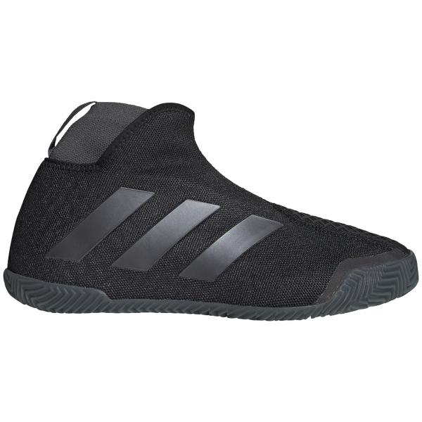 Adidas Women's Stycon Laceless Clay Tennis Shoes (Core Black/Night Metallic/Grey)