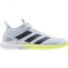 Adidas Men's Adizero Ubersonic 4 Tennis Shoes (White/Core Black/Halo Blue) -