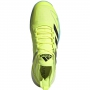 Adidas Men's Adizero Ubersonic 4 Tennis Shoes (Yellow/Core Black/Hazy Sky)