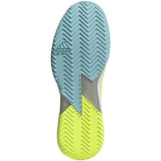 Adidas Men's Adizero Ubersonic 4 Tennis Shoes (Yellow/Core Black/Hazy Sky)