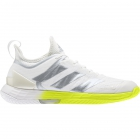 Adidas Women's Adizero Ubersonic 4 Tennis Shoes (White/Silver Metallic/Solar Yellow) -