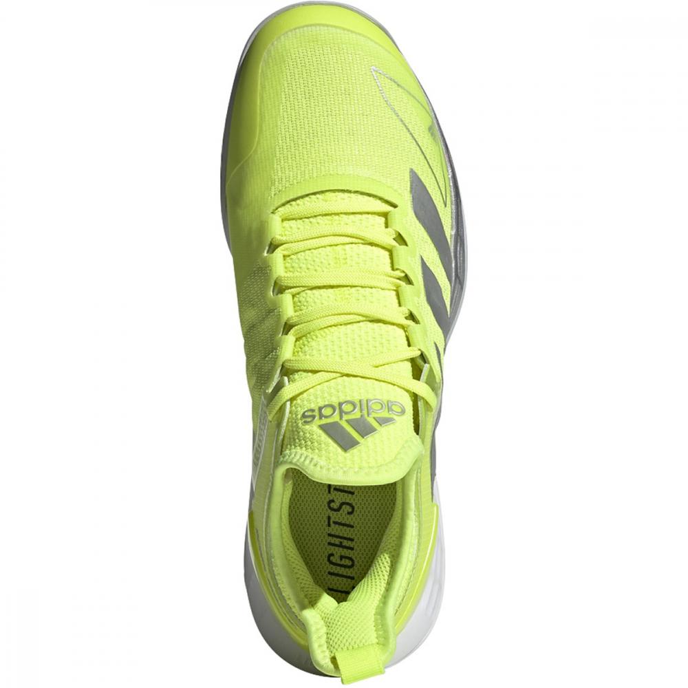 Adidas Women's Adizero Ubersonic 4 Tennis Shoes (Solar Yellow/Silver Metallic/Halo Blue)
