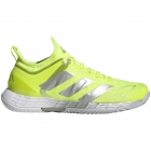Adidas Women's Adizero Ubersonic 4 Tennis Shoes (Solar Yellow/Silver Metallic/Halo Blue) -