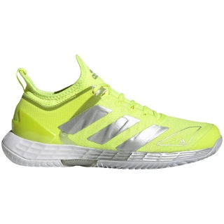Adidas Women's Adizero Ubersonic 4 Tennis Shoes (Solar Yellow/Silver Metallic/Halo Blue)