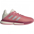Adidas Women's SoleMatch Bounce Tennis Shoe (Hazy Rose/Silver Metallic/Acid Orange) -